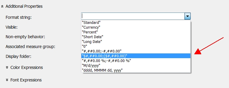 Formatting SSAS currency values