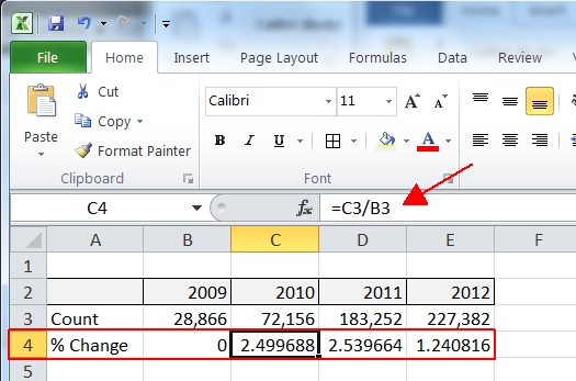 Add Excel Chart Percentage Differences  Jeff PromS Sql Server Blog