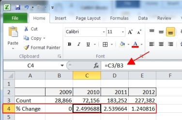 Add Excel Chart Percentage Differences | SoCalSQL - Jeff Prom's SQL