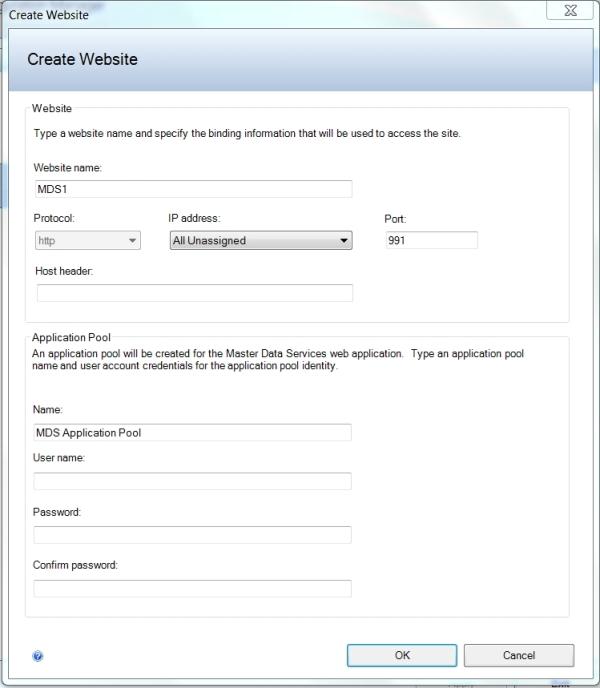 MDS Create Website