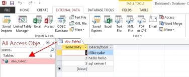 Using Microsoft Access to Import and Directly Manage Data within SQL
